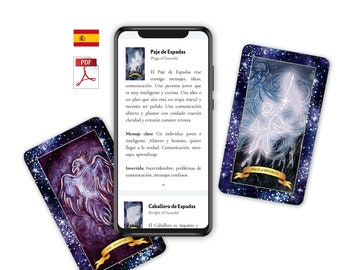 Tarot Guidebook SPANISH (Digital PDF) — The Constellation Tarot Booklet of Tarot Meanings, Tarot Cards, Tarot, Cartas Tarot, Tarot Español