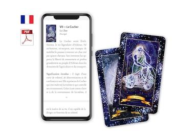 Tarot Guidebook FRENCH (Digital PDF) — The Constellation Tarot Booklet of Tarot Meanings, Tarot Cards, Tarot, Tarot Français, Jeu de tarot