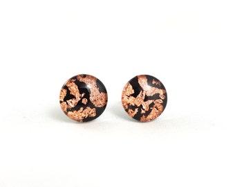 Copper Earthquake Studs