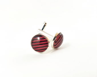 Black and Red Cufflinks