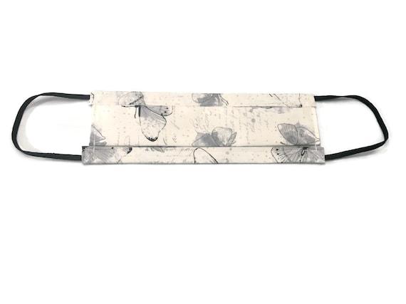 White w/ Gray Butterflies Mask
