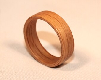 Wooden Rings - Bentwood Wooden Oak Rings - Mens Wood Rings, Womens Wood Rings, Wood Engagement Rings, Wood Wedding Bands
