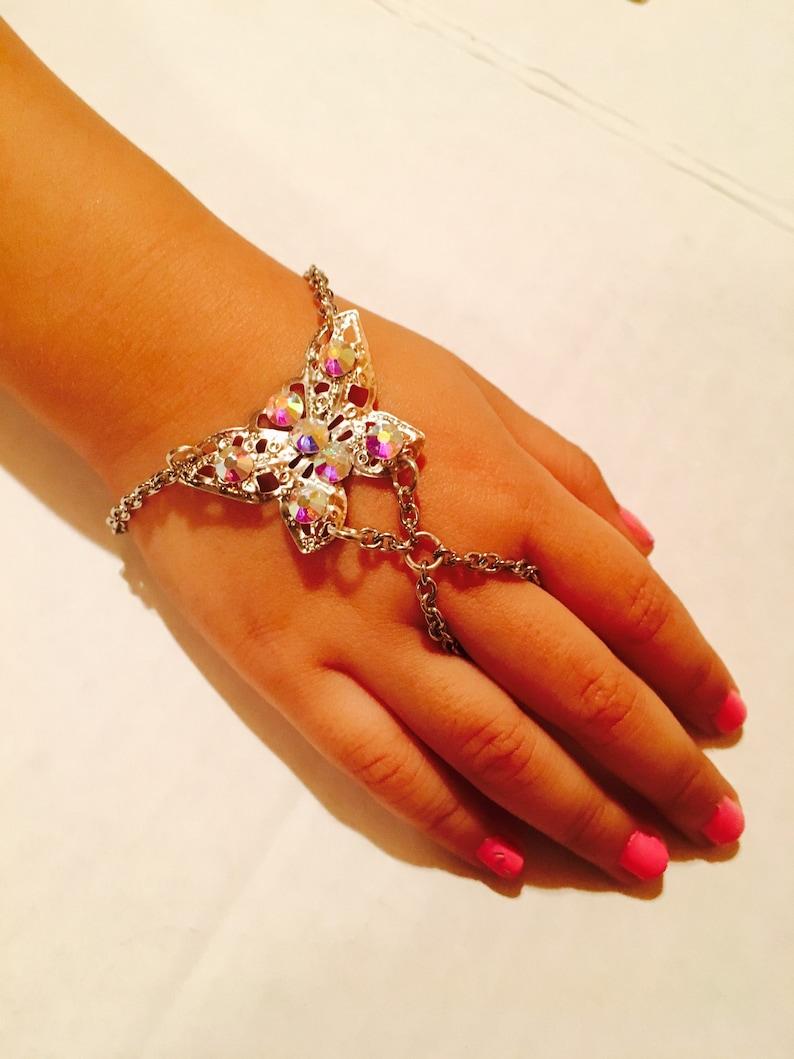 Little girl bracelet,little girl crystal beacelet,little girl butterfly bracelet,Crystal butterfly bracelet,kids bracelets,pageant bracelets