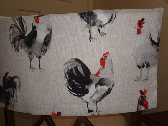 Groovy Rooster Half Chair Cover Duck Cloth Fabric Kitchen Chair Bar Stools Dining Chairs Pabps2019 Chair Design Images Pabps2019Com