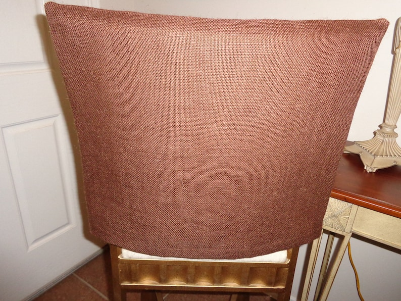 Brown Burlap Chair Back Covers Bar Stools Desk Chairs Weddings Seat Covers Dining Chairs Kitchen Chairs Dining Seating Jute Covers
