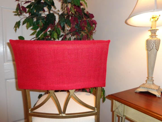 Superb Half Red Burlap Chair Back Cover Kitchen Dining Breakfast Bar Rustic Pub Table Seating Island Chairs Bar Stools Slipcovers Machost Co Dining Chair Design Ideas Machostcouk