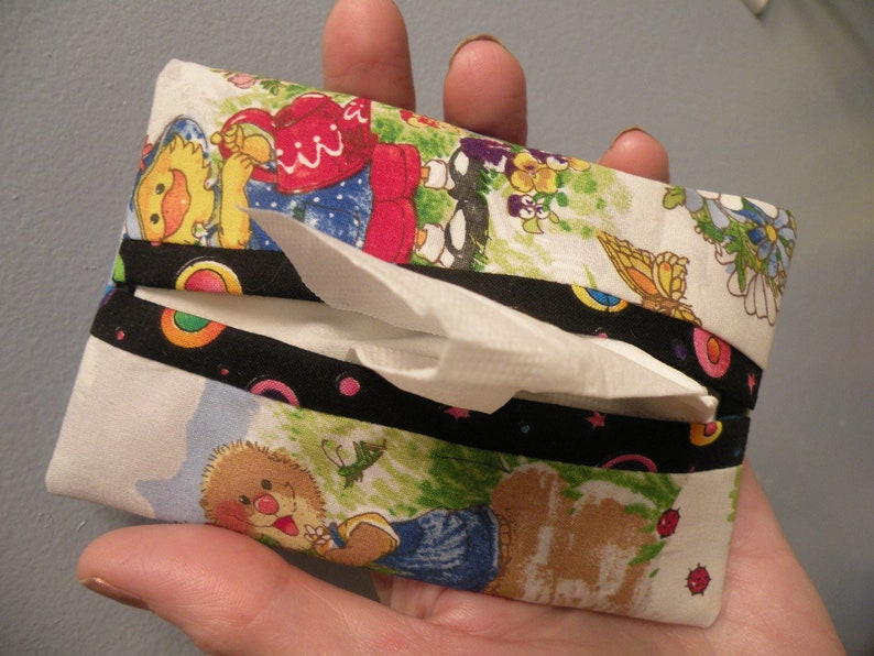 Handcrafted Suzy/'s Zoo Fabric Tissue Cover PLUS Tissues