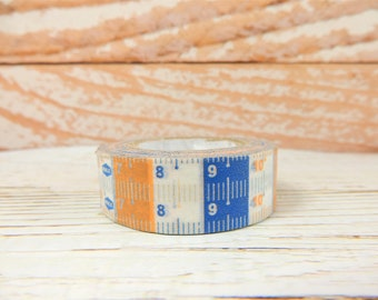Tape Measure Washi Tape, Fun Scrapbooking Decal, Ruler Tape, Crafting Supplies, Adhesive Tape