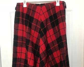 Size 10 wool blend skater skirt
