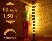 Wooden Floor Lamp is Made of Natural Log, Large Wooden Floor Lamp, Rustic Lighting, Living Room Lamp, 60 inch Lamp, Wood Lamp, Log Lamp