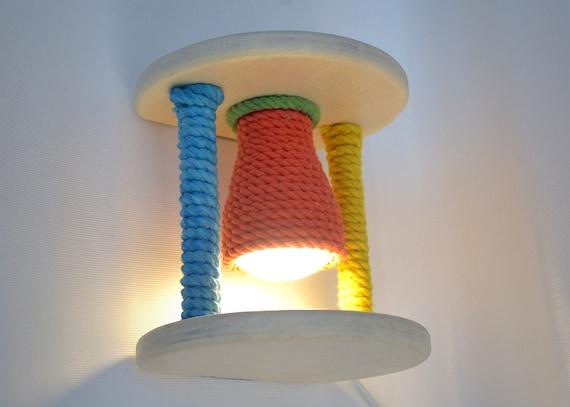 Wooden Wall Light For Children S Room Sconce For Nursery Etsy