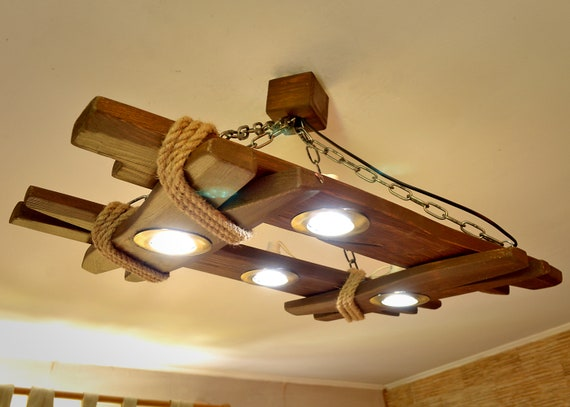 Wooden Chandelier Is Made Of Natural Wood Ceiling Light Ceiling Fixtures Wooden Lamp Lighting Fixture Rustic Ceiling Light Wooden Lamp