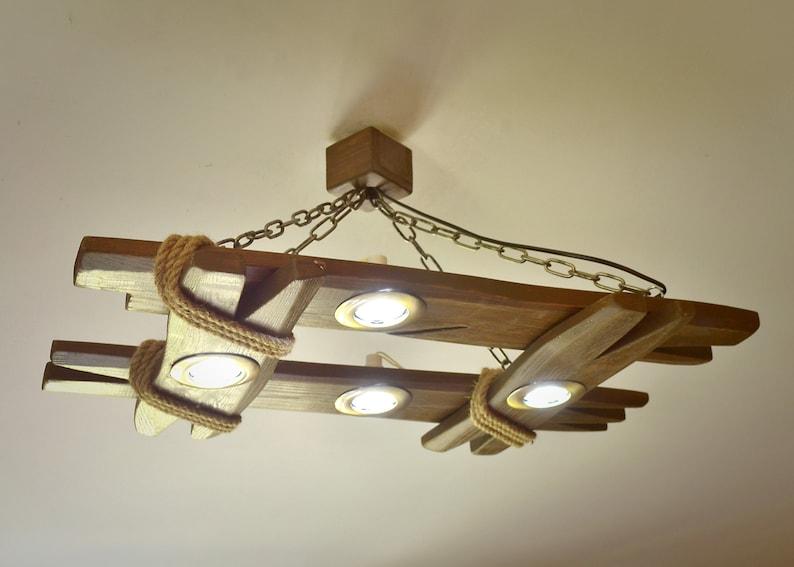 Plafoniera In Legno Fai Da Te : Lampadario in legno è fatto di naturale plafoniera etsy