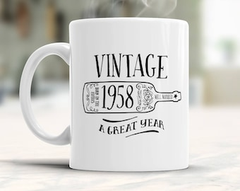 60th Birthday Gift Idea Vintage 1958 Gifts For Him Her Present 60 Year Old