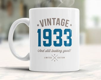 85th Birthday 1933 Gift Idea Vintage Happy For 85 Year Old