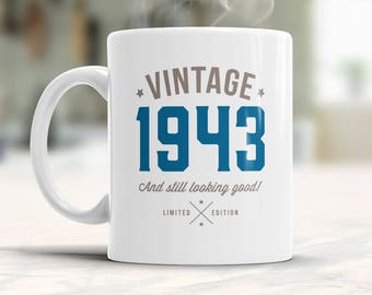 75th Birthday 1943 Gift Idea Vintage Happy Gifts For Him