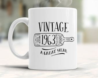 55th Birthday, 1963 Birthday, 55th Birthday Gift, 55th Birthday Idea, Vintage, 1963, Happy Birthday, 55th Birthday Present for 55 year old!