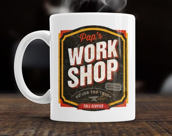 Pap Gift, Pap Mug, Christmas, Birthday Gift For Pap! Old School Pap Workshop, Pap Present, Pap Birthday Gift, Gift For Pap! Present For Pap