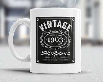 55th Birthday, 1963 Birthday, 55th Birthday Gift, 55th Birthday Idea, Gifts For Him, Gifts For Her, 55th Birthday Present for 55 year old