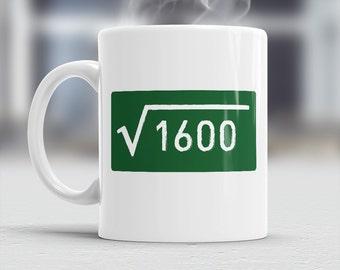 40th Birthday, 1976 Birthday, Square Root 1600, 40th Birthday Gift, 40th Birthday Idea, Happy Birthday, 40th Birthday Present, 40 year old