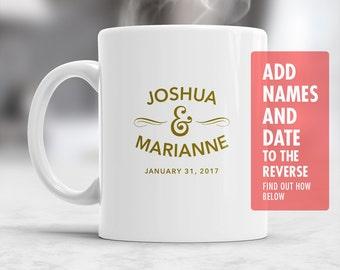 Custom Name Wedding Mug, Design & Print Only, Must Be Ordered With A Main Mug Purchase