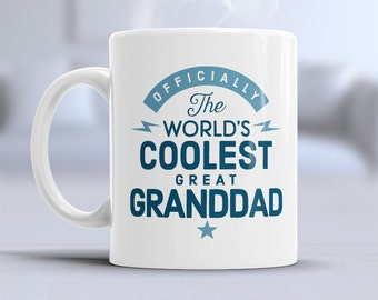Cool Great Granddad, Great Granddad Mug, Birthday Gift For Great Granddad! Great Granddad Gift. Great Granddad, Great Granddad Present