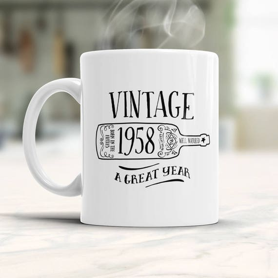 60th Birthday Gift Gifts For Men Women 1958 Square Root Mug Coffee Christmas