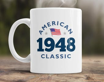 70th Birthday, 1948 Birthday, 70th Birthday Gift, 70th Birthday Idea, American Classic 1948, 70th Birthday Present for the lucky 70 year old