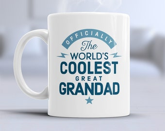 Cool Great Grandad, Great Grandad Mug, Birthday Gift For Great Grandad! Great Grandad Gift. Great Grandad, Great Grandad Present