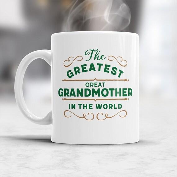 Gran regalo de la abuela bisabuela mayor gran abuela taza | Etsy