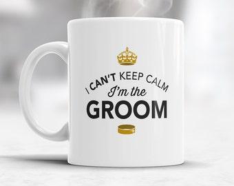 Groom Gift, Groom Mug, Bachelor Party, Groom To be, Alternative Groom Glass, Bachelor Party Gift, Wedding Idea, Keep Calm Groom Mug