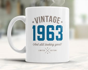 55th Birthday, 1963 Birthday, 55th Birthday Gift, 55th Birthday Idea, Vintage, 1963, Happy Birthday, 55th Birthday Gift for 55 year old