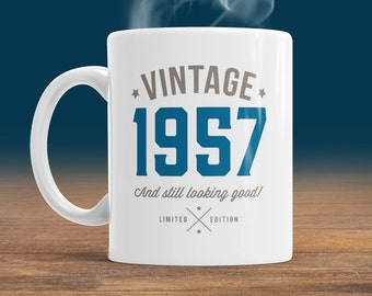 60th Birthday, 1957 Birthday, 60th Birthday Gift, 60th Birthday Idea, Vintage, 1957, Happy Birthday, 60th Birthday Gift for 60 year old
