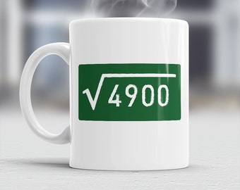 70th Birthday, 70th Birthday Gift, 70th Birthday Idea, Square Root 4900, Happy Birthday, 70th Birthday Present for 70 year old!