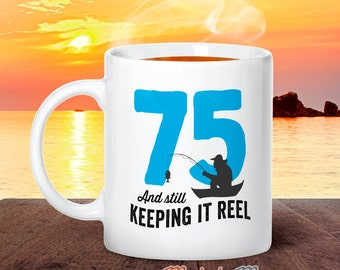 75th Birthday, 1941 Birthday, Fishing Birthday, 75th Birthday Gift, 75th Birthday Idea, Happy Birthday, 75th Birthday Gift for 75 year old