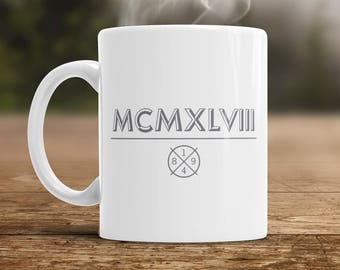 70th Birthday, 1948 Roman Numerals, 70th Birthday Gift, 70th Birthday Idea, Vintage, Happy Birthday, 70th Birthday Present for 70 year old!