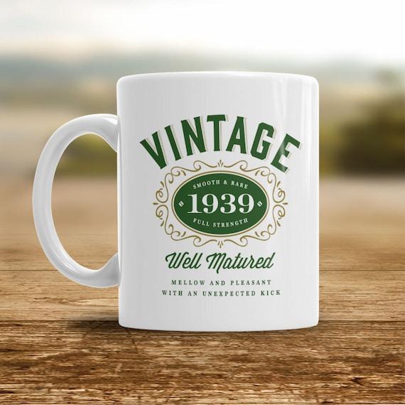 80th Birthday 1939 Birthday Coffee Or Tea Mug For Men Or Women Gift Idea Vintage Bourbon Keepsake Present For 80 Year Old