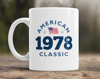 40th Birthday, 1978 Birthday, 40th Birthday Gift, 40th Birthday Idea, American Classic 1978, 40th Birthday Present for the lucky 40 year old