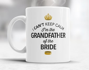 Grandfather of The Bride, Wedding Mugs, Brides Grandfather, Brides Grandfather Gift, Grandfather, Grandfather of the Bride,  Wedding Ideas