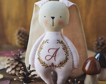 Handmade bunny - Bunny doll - Bunny plush - Bunny toys - Stuffed animal - Stuffed bunny - Personalized baby gifts for girl - Cloth bunny