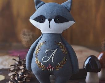Handmade raccoon - Personalized handmade raccoon - Cloth raccoon - Stuffed raccoon - Personalized raccoon - Raccoon toy - Stuffed animal