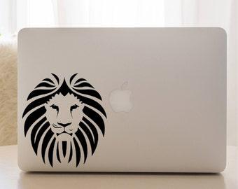 4da42ec77a2 Laptop lion decal, lion decal, lion head decal, computer decal, laptop  skin, coffee mug lion decal, cup lion sticker, water bottle decal