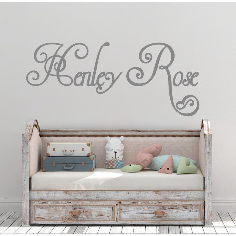 custom name nursery wall decal baby name wall decal | etsy