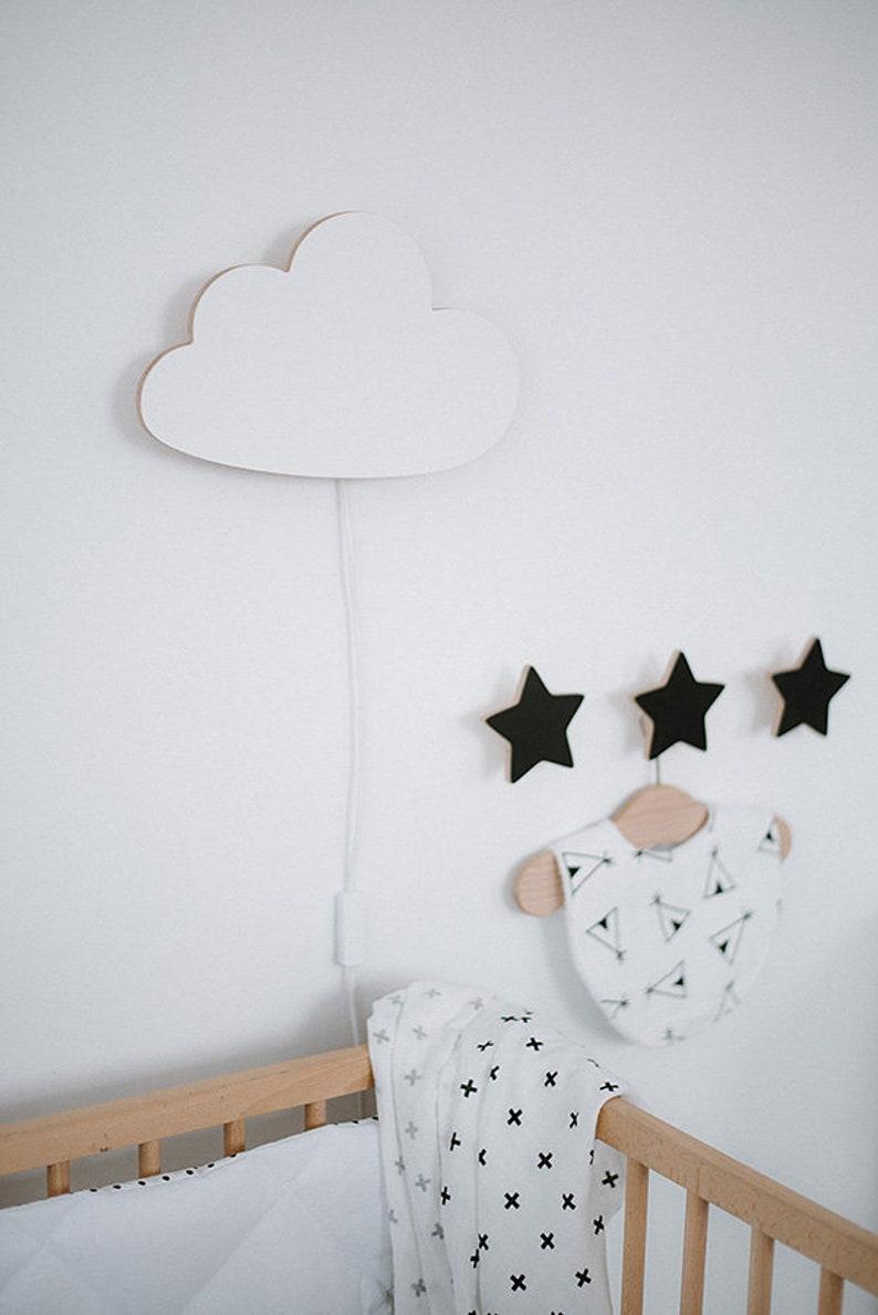Nachtlicht für Kinderzimmer Holz Cloud-Kinderzimmer-Lampe | Etsy