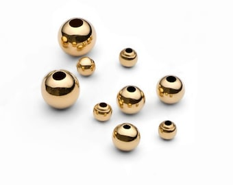 9ct YELLOW GOLD 4mm HOLLOW FLAT BEAD with central through hole JEWELLERY MAKING