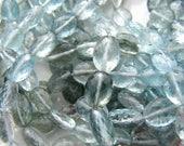 Moss aquamarine ovals 5.75-8mm AAA micro faceted FANTASTIC Natural gemstone Moss green Aqua blue gray grey Personal Favourite