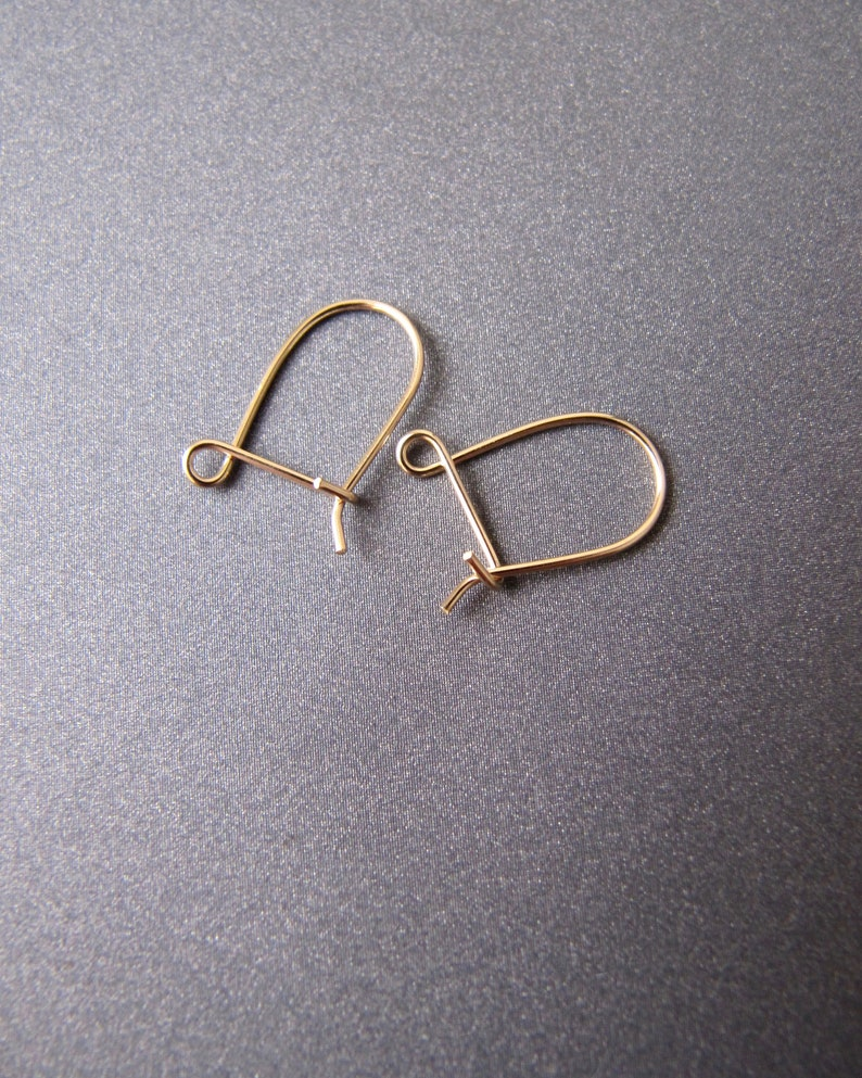 Bead Safety Drop Hooks Jewellery Making 9ct Yellow Gold Earring Ear Wires