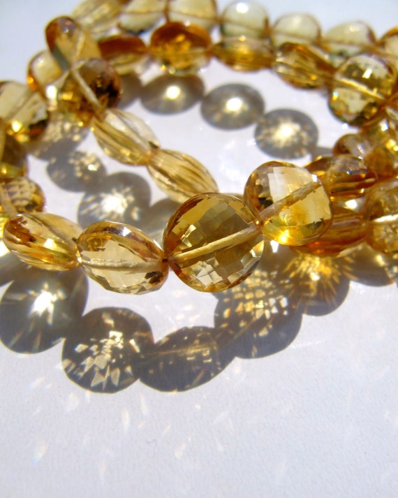 """3MM CITRINE GEMSTONE GRADE AAA MICRO FACETED ROUND LOOSE BEADS 15.5/"""""""
