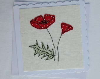 Floral Textile Art Greetings Card