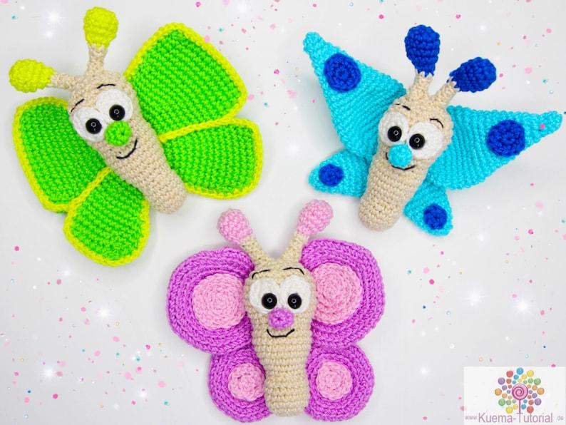 Lustiges Schmetterlings Trio  Häkelanleitung DENL image 0